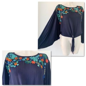 Free People Tops - Free People embroidered blouse